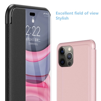 Smart View Flip Case For Iphone 12 11 Pro Max 2020 Naujas Odos Flip Case For Iphone 8 7 6s Plus X Xr Xs Max SE 2020 Flip case