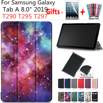 Tablet Case For Samsung Galaxy Tab 8.0 SM-T290 T295 2019 Ultra Plonas Odos Stovo Dangtelį Galaxy Tab T290 T297 Atveju funda