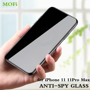 MOFi Anti Spy Grūdintas Stiklas Apple iPhone 11 Pro Max Privacy Screen Protector for iPhone11 Apple11 Peeping Visiškai Padengti Atspindžius